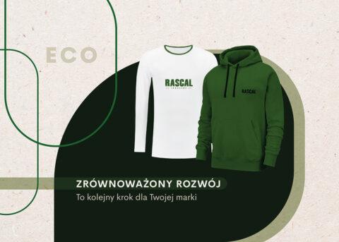 Ekologiczne bluzy z Twoim logo: nadrukiem, haftem lub naszywką.