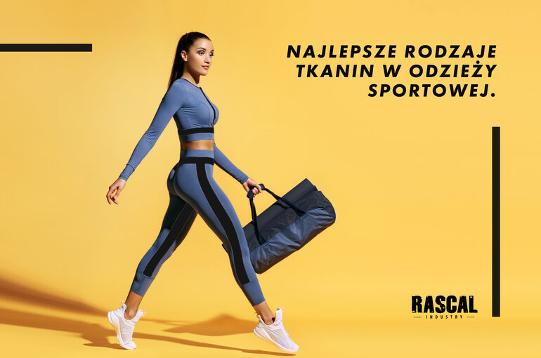 Go to training. Sporty woman with bag on yellow background. Dyna
